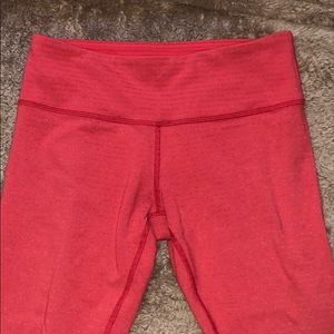 Lululemon Cropped Bright Coral Leggings